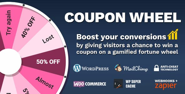 Coupon Wheel For WooCommerce and WordPress v3.3.8