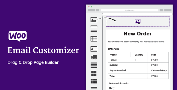 WooCommerce Email Customizer with Drag and Drop v1.5.16