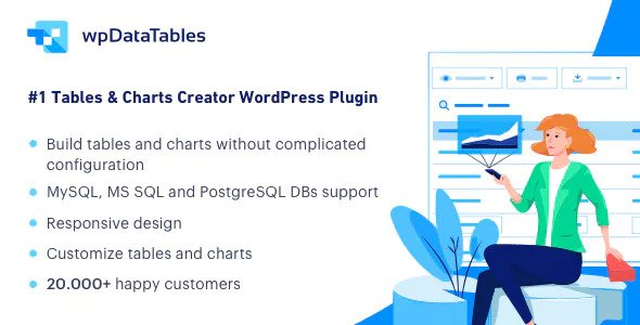 wpDataTables v3.1.0 - Tables and Charts Manager for WordPress