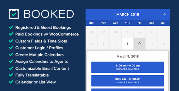 Booked v2.3 - Appointment Booking for WordPress