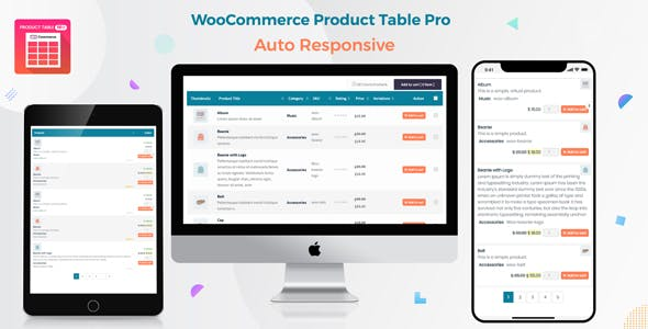Woo Product Table Pro v7.0.3 - WooCommerce Product Table view solution
