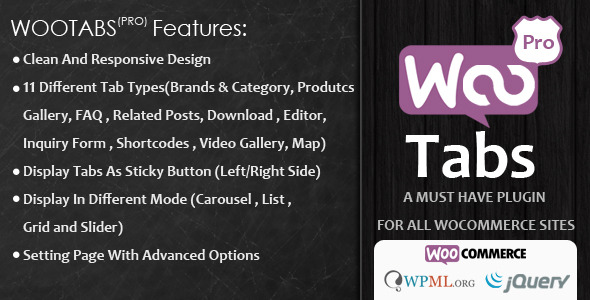 Woocommerce Tabs Pro v3.2 - Extra Tabs for Product Page