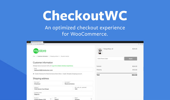 CheckoutWC v3.12.2 - Optimized Checkout Page for WooCommerce