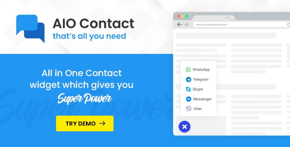 AIO Contact v1.1.0 - All in One Contact Widget