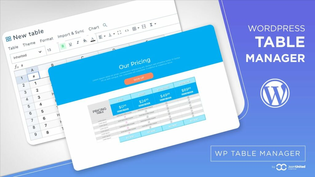 WP Table Manager v2.7.4 - The WordPress Table Editor Plugin