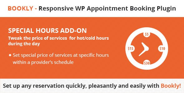 Bookly Special Hours (Add-on) v2.5