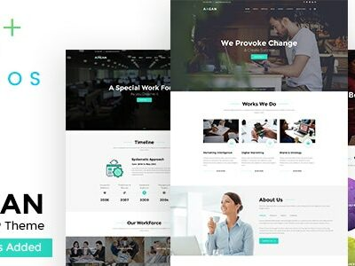 Aagan v2.6 Nulled - Agency, Startup WordPress Theme