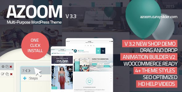 Azoom v3.0.3 Nulled - Multi-Purpose Theme with Animation Builder