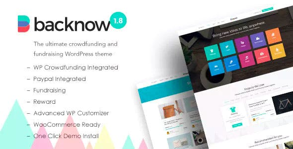 Backnow v2.4 Nulled - Crowdfunding & Fundraising Wordpress Theme