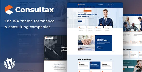 Consultax v1.0.5 Nulled - Financial & Consulting WordPress Theme