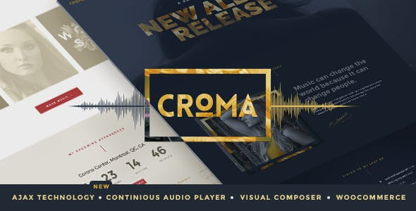 Croma v3.5 Nulled - Music WordPress Theme with Ajax and Continuous Playback