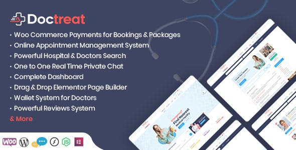 Doctreat v1.2.5 Nulled - Doctors Directory WordPress Theme