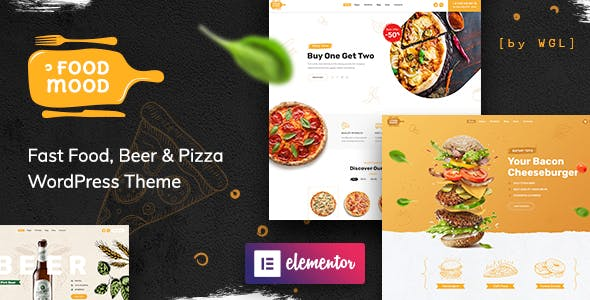 Foodmood v1.1.2 Nulled - Cafe & Delivery WordPress Theme