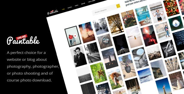 Paintable v2.2 Nulled - Photography and Blog / Photos WordPress Theme