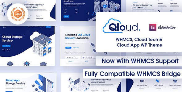 Qloud v2.2 Nulled - WHMCS, Cloud Computing, Apps & Server WordPress Theme
