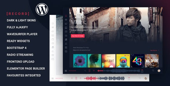 Rekord v1.4.7 Nulled - Ajaxify Music - Events - Podcasts Multipurpose WordPress Theme