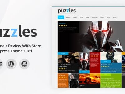 Puzzles v4.1 Nulled - WP Magazine/Review with Store WordPress Theme