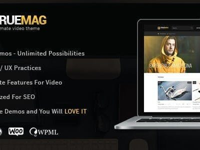 True Mag v4.3.6 Nulled - WordPress Theme for Video and Magazine