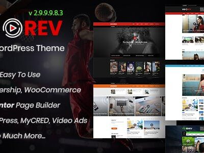 VidoRev 2.9.9.9.8.3 Nulled - Video WordPress Theme