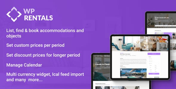 WP Rentals v3.1.1 Nulled - Booking Accommodation WordPress Theme